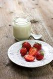 ser chałup truskawek jogurt Zdjęcia Royalty Free