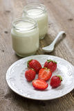 ser chałup truskawek jogurt Obrazy Stock