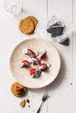 ser chałup truskawek jogurt Fotografia Stock