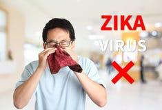 Ser cuidadoso o vírus do zika fotos de stock royalty free