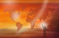 Ser e mundo humanos Fotografia de Stock Royalty Free