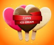 Süßer Eiscremesatz Lizenzfreie Stockbilder