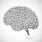 Ser humano abstrato do cérebro Imagens de Stock Royalty Free