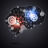 Ser humano Brain Shape Gears Imagen de archivo libre de regalías
