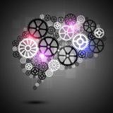 Ser humano Brain Shape Gears Business Background ilustração do vetor