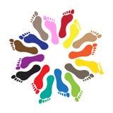 Ser humano com os pés descalços Imagem de Stock
