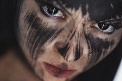 Ser humano con alma negra foto de archivo libre de regalías