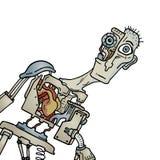 Ser humano criativo do robô Imagens de Stock Royalty Free