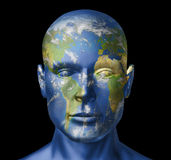 Ser humano de la tierra Imagenes de archivo