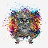 Ser humano del robot Ilustración del Vector