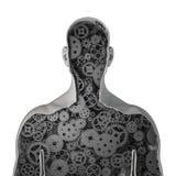Ser humano do maquinismo de relojoaria Foto de Stock