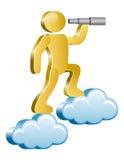 Ser humano en nubes Imagen de archivo libre de regalías