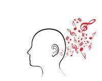 Ser humano musical Foto de archivo