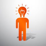 Ser humano principal de la lámpara ilustración del vector