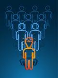Ser humano principal de la lámpara stock de ilustración