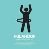 Ser humano que joga um símbolo de Hulahoop Fotos de Stock Royalty Free