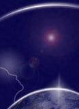 Ser humano que pide el universo? Imagen de archivo libre de regalías