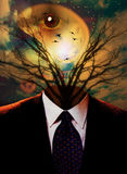 Ser humano surrealista Imagen de archivo