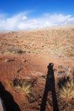 Ser humano y Wensu Grand Canyon en otoño imagen de archivo