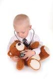 Süßer interessierender Kind-Doktor Stockbilder
