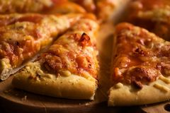 ser kawałek pizzy Zdjęcie Royalty Free