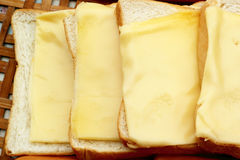 Ser miejsce na plasterku chleb zdjęcie stock