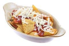 ser nachos salsa Obraz Stock