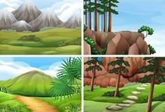 Ser of nature background. Illustration vector illustration