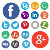 Ser social d'icône de media Images libres de droits