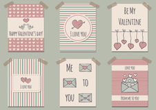 Ser of Valentine's Day cards Stock Photos