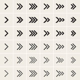 Ser of vector arrow icons. Set of vector black arrow icons Royalty Free Stock Photos