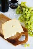 Ser wino i winogrono, Zdjęcie Stock