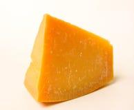 Ser zdrowa żywność Ciężki ser Odizolowywający na bielu Zdjęcia Stock
