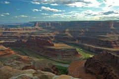 Sera al canyon a ferro di cavallo Fotografia Stock