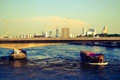 Sera al Chao Phraya Fotografia Stock