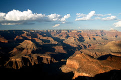 Sera al grande canyon fotografia stock