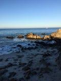 Sera all'oceano Fotografia Stock Libera da Diritti