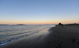 Sera alla spiaggia di San Francisco Fotografia Stock Libera da Diritti