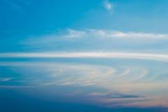 Sera blu-chiaro Fotografia Stock Libera da Diritti