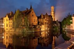 Sera a Bruges Immagini Stock Libere da Diritti