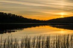 Sera calma del lago Fotografie Stock Libere da Diritti