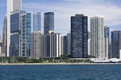 Sera in Chicago Fotografia Stock Libera da Diritti