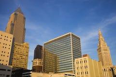 Sera a Cleveland del centro Fotografia Stock Libera da Diritti
