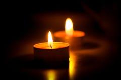 Sera dal lume di candela Fotografia Stock