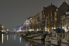 Sera del canale di Christianshavn Fotografia Stock Libera da Diritti