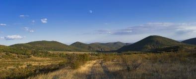 Sera del cielo delle montagne Fotografia Stock Libera da Diritti