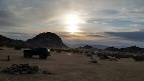 Sera del deserto Fotografia Stock Libera da Diritti