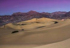 Sera del deserto Immagine Stock