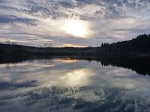 Sera del lago Immagini Stock Libere da Diritti