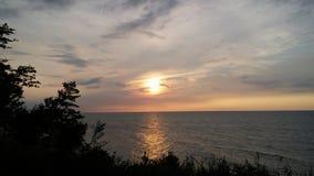 Sera del lago Erie Immagini Stock Libere da Diritti